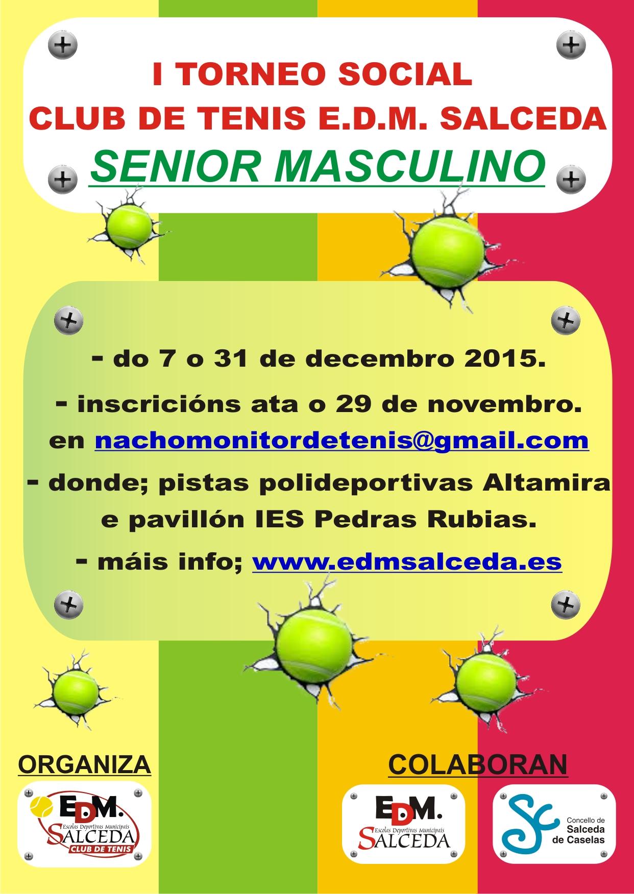 Cartel I torneo social de tenis edm saceda 2015