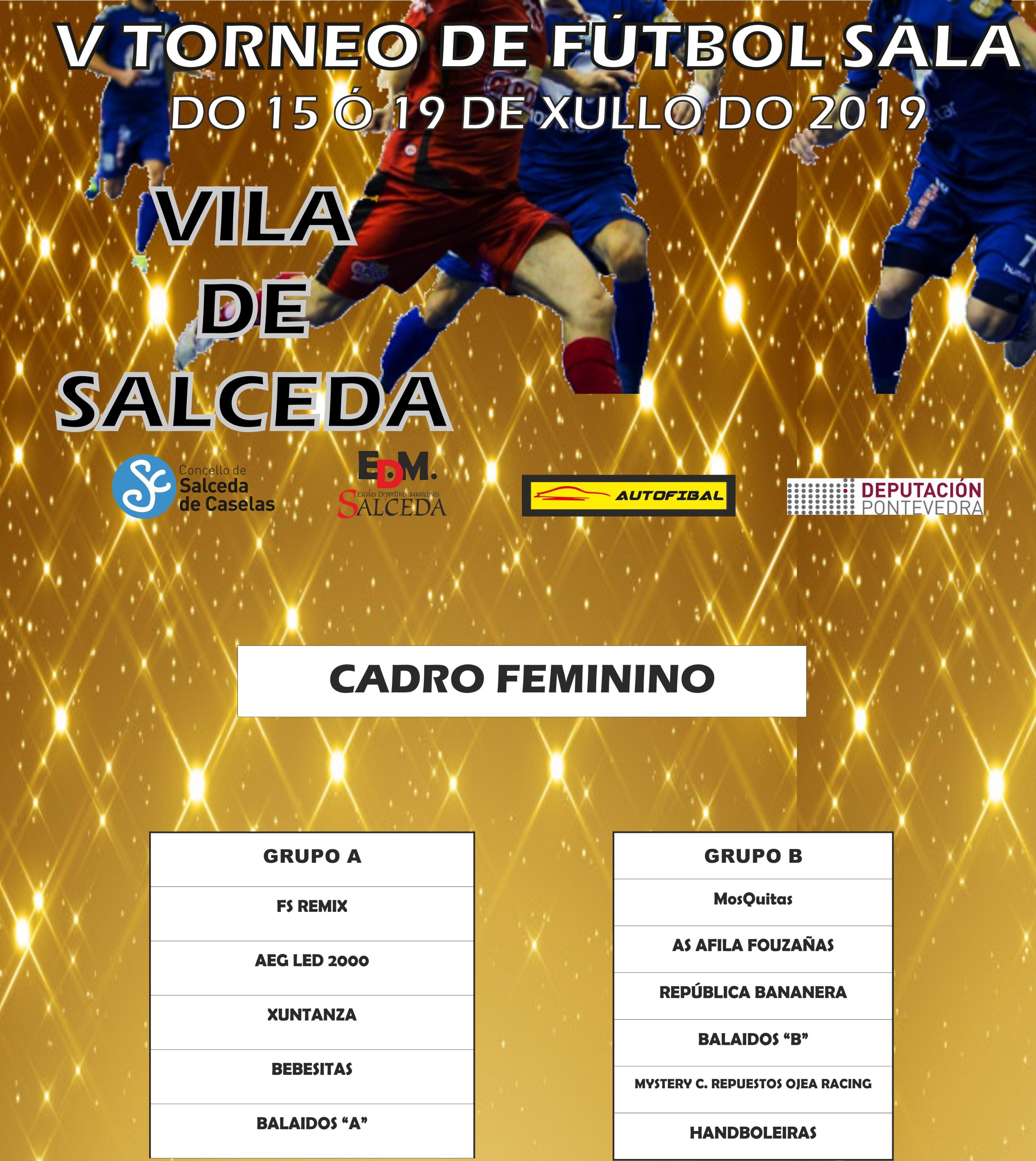 CADRO FEMININO FUTSAL CRISTO 2019