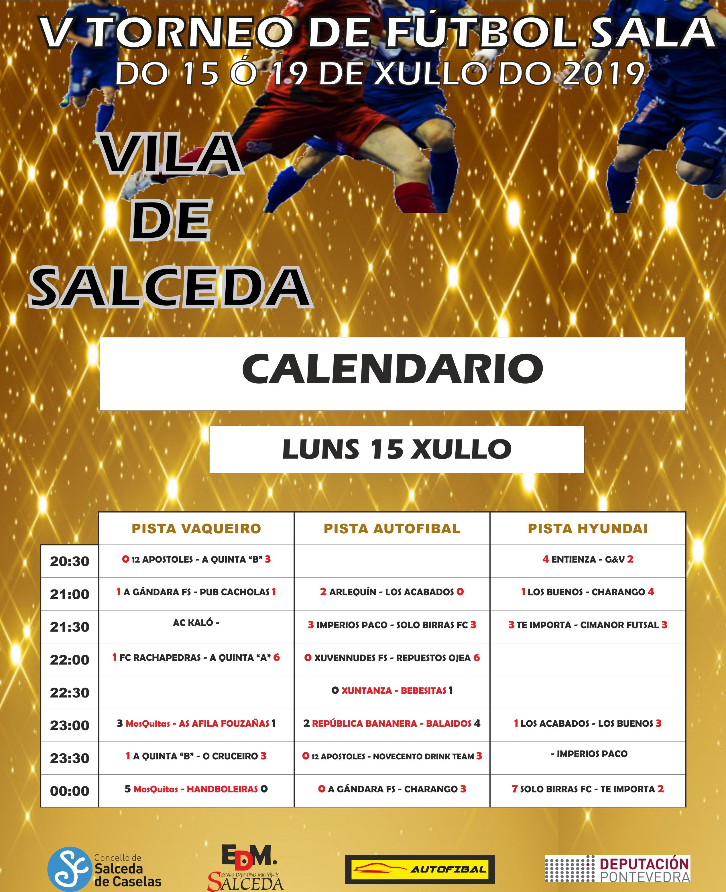 CALENDARIO LUNS FUTSAL CRISTO 2019