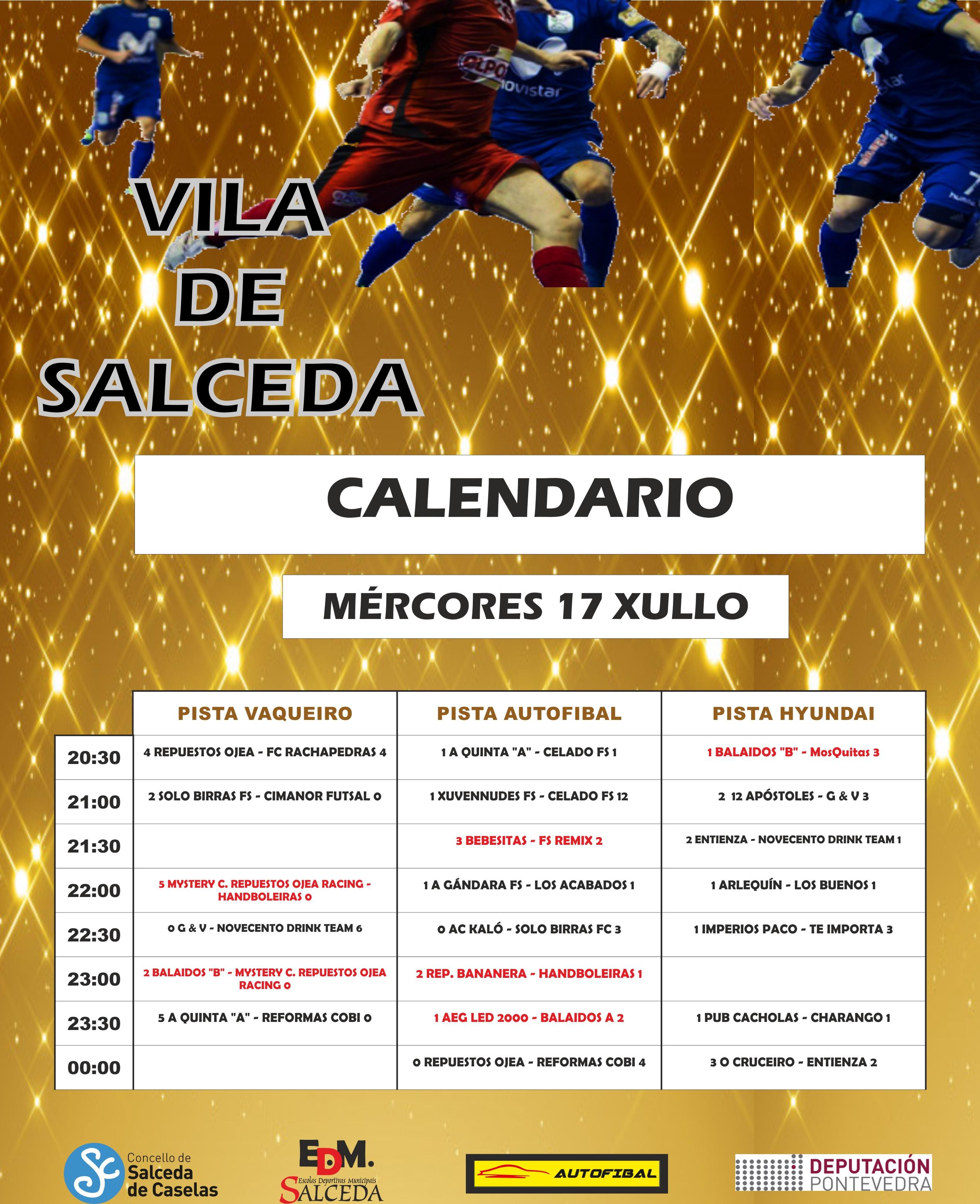 CALENDARIO MODIFICADO MERCORES FUTSAL CRISTO 2019